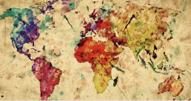 map of the world, Global Christianities image