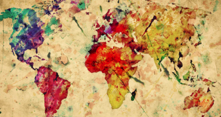 watercolor global map for global christianities