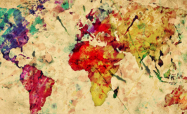 Global Christianity artistic map