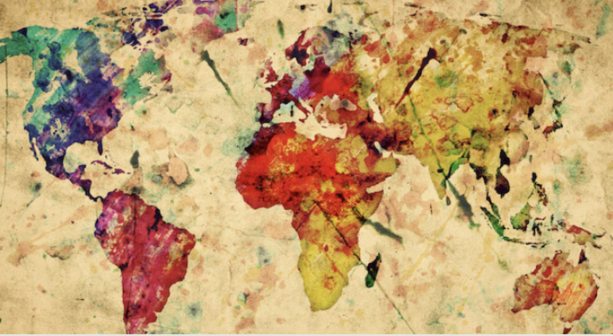 artistic map image for Global Christianities series